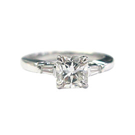 Tiffany & Co. Platinum Lucida & Baguette Diamond Engagement Ring