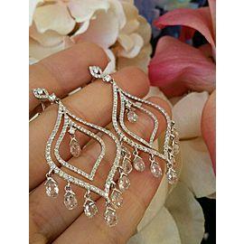 Odelia 18K White Gold 9.68ctw Diamond Chandelier Earrings