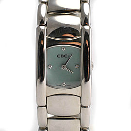 Beluga Manchette Ladies Ebel 9057A21 Diamond Blue Mother of Pearl Quartz Watch