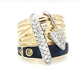 La Nouvelle Bague 18K Rose Gold 0.60ctw Diamond Ring Size 6.75