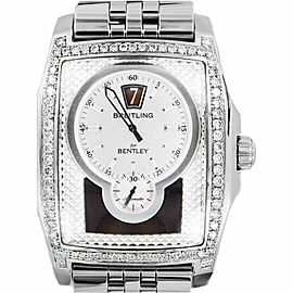 Breitling A28362 Bentley Flying B 2.85Ct Bezel Date Stainless Steel Mens Watch