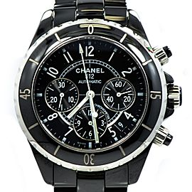 Chanel J12 Black Ceramic Chronograph Black Dial Automatic 41mm Women's Watch