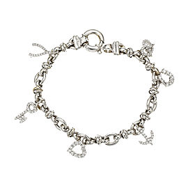 Roberto Coin 18K White Gold with Diamond Charm Bracelet