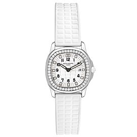 Patek Philippe Aquanaut White Dial Diamond Ladies Watch