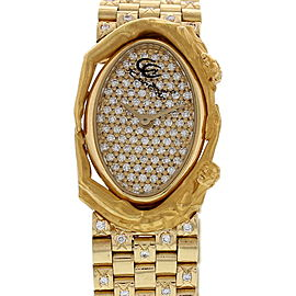 Carrera Y Carrera Adam & Eve 18K Yellow Gold & Diamond Womens Watch
