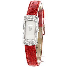 Tiffany & Co18K White Gold and Diamonds Womens Watch