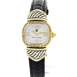 David Yurman 14K Yellow Gold & Stainless Steel w/ Diamonds Watch