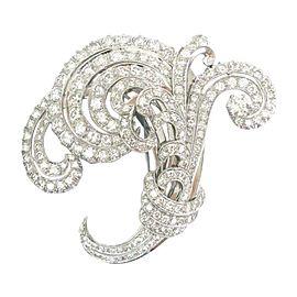 Platinum 13.66ct. Diamond Buke Pin / Brooch