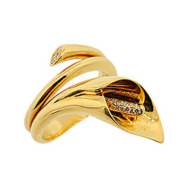 Asprey 18K Yellow Gold & Diamond Ring