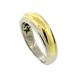 Scott Kay Platinum 18K Yellow Gold Domed Wedding Band Ring