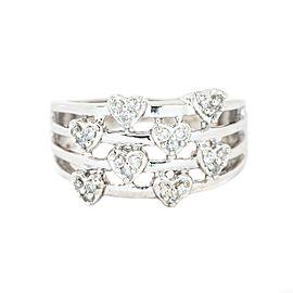 White White Gold Diamond Womens Ring Size 8