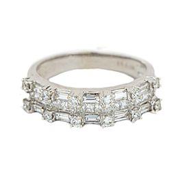White White Gold Diamond Mens Ring Size 8