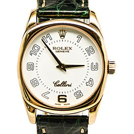 Rolex Cellini Danaos 6229 18K Yellow Gold White Dial Manual Winding Womens Watch