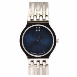 Movado 84.25.811.4 Stainless Steel Bracelet Blue Dial Quartz Womens Watch