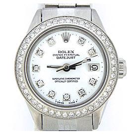 Ladies Rolex Stainless Steel Datejust White Diamond