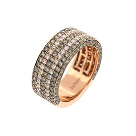 Levian 14K Rose Gold Chocolate White Diamond Band Ring