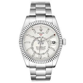 Rolex Sky-Dweller White Dial Steel White Gold Mens Watch