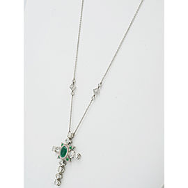 Platinum Emerald, Diamond Necklace
