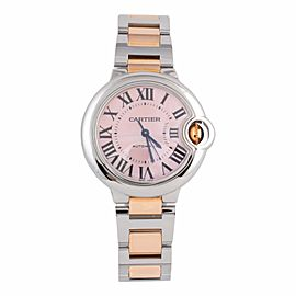 Cartier Ballon Bleu W6920070 3489 Stainless Steel & 18K Rose Gold 33mm Watch