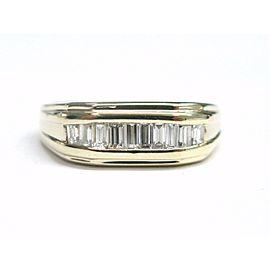 14K Yellow Gold & 0.65ct Diamond Band Ring