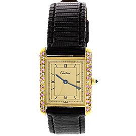 Cartier Tank Must de 91267 Argent with Diamonds & Gems Womens Watch