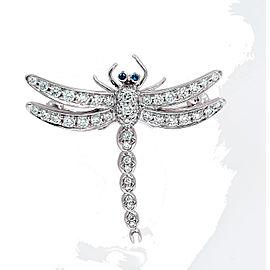 Tiffany & Co. PT950 Platinum with 0.59ctw Diamond Dragonfly Pendant