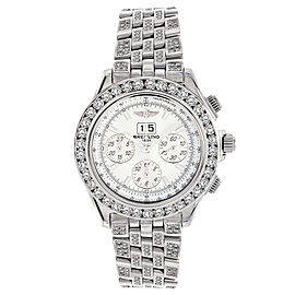 Breitling A44355 Windrider Crosswinds Chronograph Stainless Steel & Diamond 44mm Mens Watch