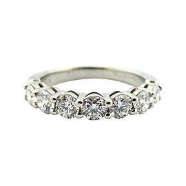 Tiffany & Co. Platinum Shared Setting .91ct Diamond Band Ring