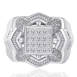 14K White Gold and 2.00ct Diamonds Ring Size 11.25