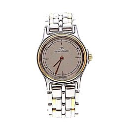 Jaeger-Lecoultre 132.5.09 Two Tone Stainless & Gold Plated Quartz Womens Watch