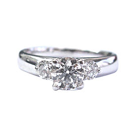 Scott Kay Platinum & 1.08ct Diamond Three Stone Engagement Ring Sz 6