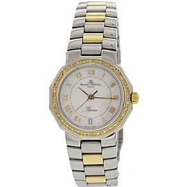 Baume & Mercier Riviera 5231 18K Yellow Gold & Stainless Steel & Diamond Womens Watch