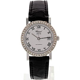 Chopard 4141 Depuis 1860 18K White Gold & Diamond Womens Watch
