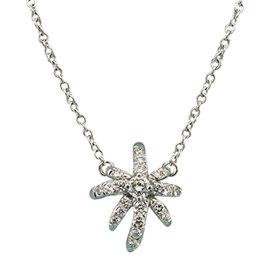 Tiffany & Co. Platinum 0.19 Ct Diamond Firework Pendant Necklace