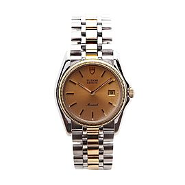 Tudor Monarch 15633 Two-Tone 18K Yellow Gold & Stainless Steel Quartz 32mm Mens Watch
