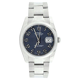 Rolex Datejust 116200 Oyster Stainless Steel Blue Concentric Dial Automatic 36mm Mens Watch