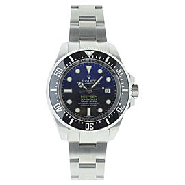 Rolex Sea Dweller 116660 Stainless Steel Deep Sea Blue Dial Black Bezel 44mm Mens Watch