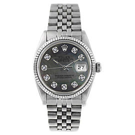 Rolex Datejust 16014 18K White Gold & Stainless Steel 36mm Mens Watch