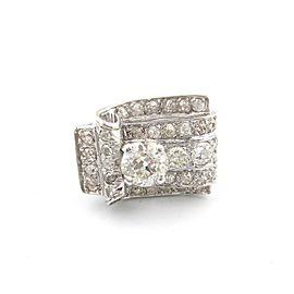 Platinum Round Center 2.87 Ct Diamond Rectangle Engagement Ring Size 6.5