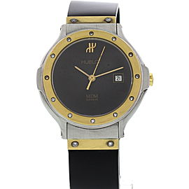 Hublot MDM 1391.2.044 18K Yellow Gold/Stainless Steel & Rubber with Diamonds Quartz 28mm Womens Watch