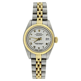 Rolex Datejust 79173 Stainless Steel / 18K Yellow Gold with White Roman Dial 26mm Womens Watch