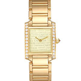 Cartier Tank Francaise Yellow Gold Diamond Ladies Watch WE1023R8