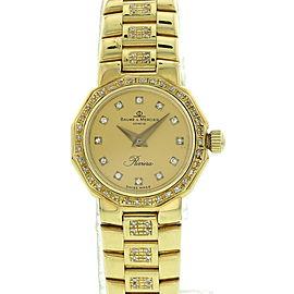 Vintage Baume & Mercier Riviera 1616017 18K Yellow Gold 20mm Watch