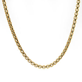 "14K Yellow Gold Round Box Link 16"" Necklace"