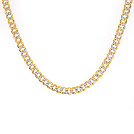 "14K Yellow Gold with Diamond Cuban/Curb Chain 20"" Necklace"