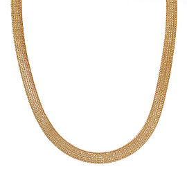 14K Yellow Gold Mesh Omega Necklace