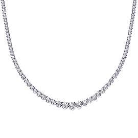14K White Gold 12.25ct Diamond Necklace