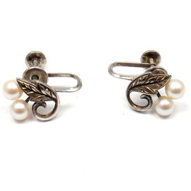 Mikimoto 925 Sterling Silver Tokyo Akoya Pearl Earrings
