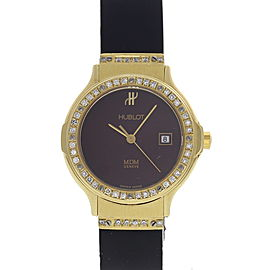 Hublot MDM Depose 1391.3 18K Yellow Gold / Rubber 28mm Womens Watch
