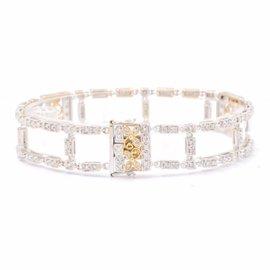 White White Gold Diamond Mens Bracelet